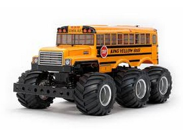 TAMIYA KING 6X6 GIALLO BUS 1:18